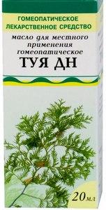 Гомеопатическое масло туи при аденоидах